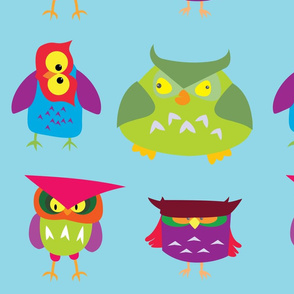 Colorful Owl Pattern