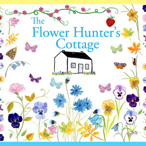 Large Satin Flower Hunter's Cottage Quilt