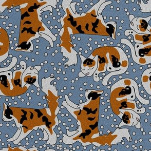 Dark Calico Cats and Dots