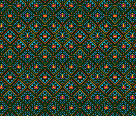 Folk Flowers Pattern 3 fabric by juliematthews on Spoonflower - custom fabric