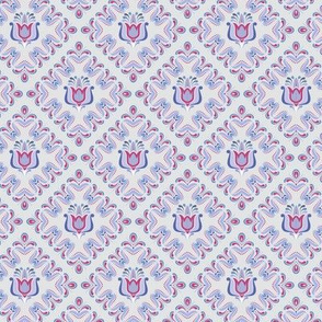 Folk Flower Pattern 3 - Winter