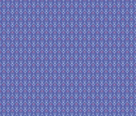 Folk Flowers Pattern 5 - Winter fabric by juliematthews on Spoonflower - custom fabric