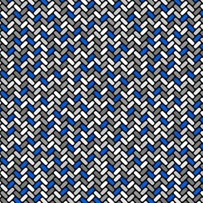 Gray and Blue Weave