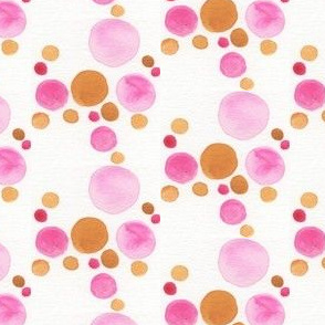 Pink and Marigold Bubbles