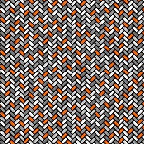 Gray and Orange Weave