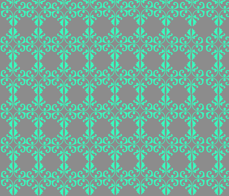 Grey & Dark Teal Geometric fabric by periwillow on Spoonflower - custom fabric