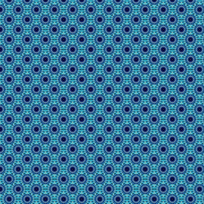 Turquoise and blue circles