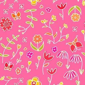 Petite flowers - pink