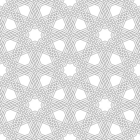 03832700 : octagonal star X triple-weave fabric by sef on Spoonflower - custom fabric