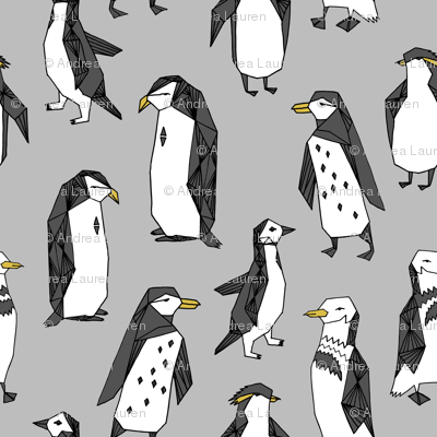 Huddle of Penguins - Slate (Tiny Version) by Andrea Lauren