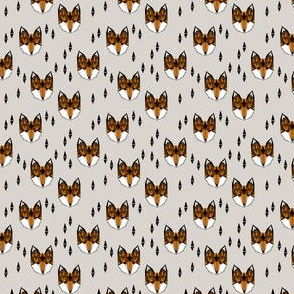 fox // geometric fox head kids nursery baby foxes woodland animal grey boys gender neutral kids design