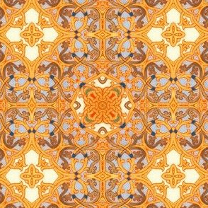 Illuminated Manuscript, Scroll Lattice Work