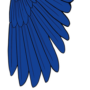 One Yard Simple Feather Wings in Blue