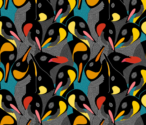 Penguins fabric by rubydoor on Spoonflower - custom fabric