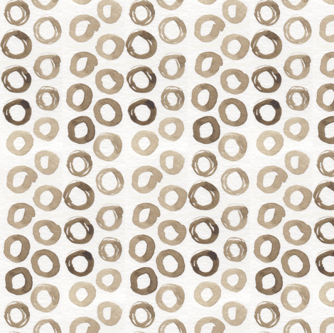 Casual Grey Watercolor Dots fabric by katebutler on Spoonflower - custom fabric