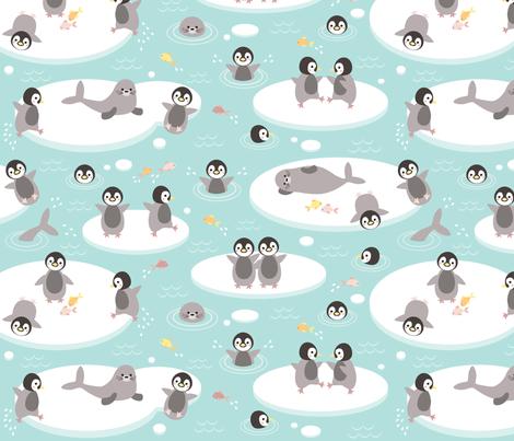 Baby penguins fabric by heleenvanbuul on Spoonflower - custom fabric