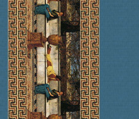 Two Thousand Years Ago ~  Border Print fabric by peacoquettedesigns on Spoonflower - custom fabric