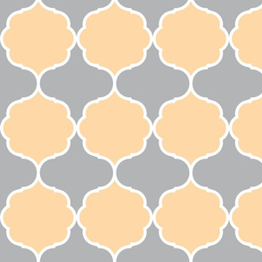 Hexafoil Peach Gray White