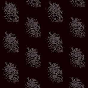 Cypress Flower Black Print