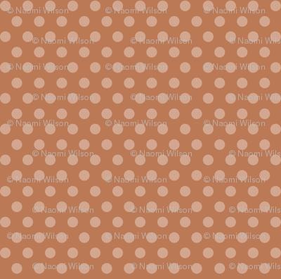 Mushroom Madness Polka Dots in Burnt Orange