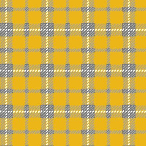Yellow & Grey Plaid