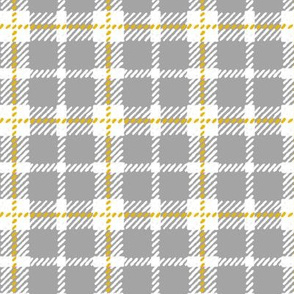 Grey, White & Yellow Plaid