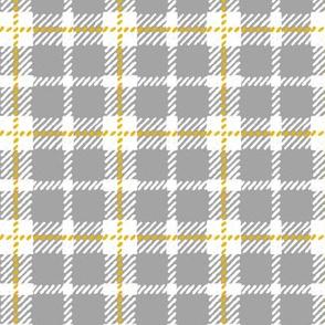 Grey, White & Yellow Plaid