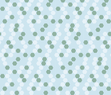 Seaglass Honeycomb fabric by ari_p on Spoonflower - custom fabric