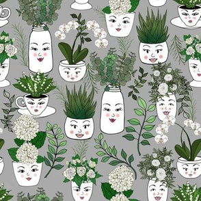 Garden Face Vases