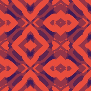Abstract Red Navy
