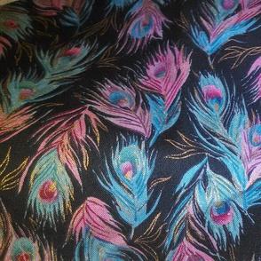 Peacock Glitter Fabric