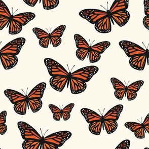 Monarch Butterflies (Warm White)