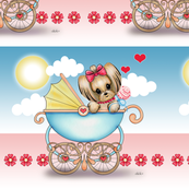 Yorkie Baby Girl Stroller