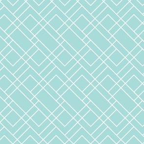 Turquoise and White Rectangles