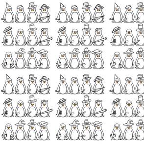 b&w a year of penquins