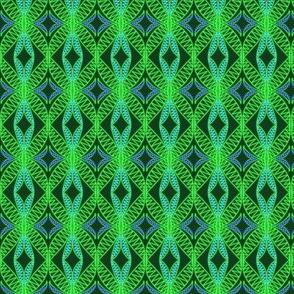 Eyelet Crochet Lace Yellow Green Blue