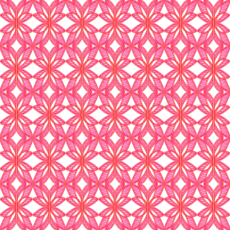 Winged Petals Pink White fabric by eve_catt_art on Spoonflower - custom fabric