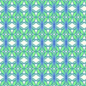 Winged Petals Green Blue