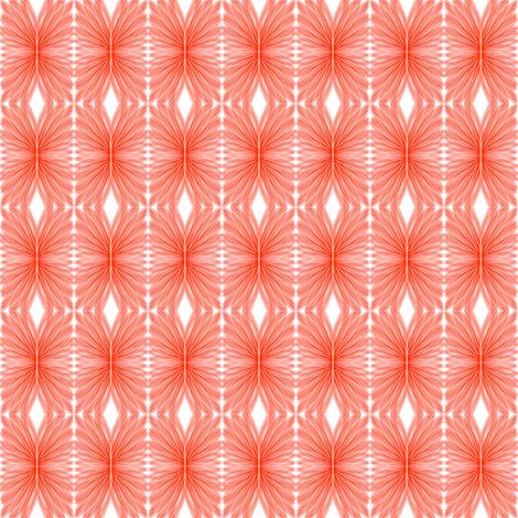 Winged Petals Orange White fabric by eve_catt_art on Spoonflower - custom fabric