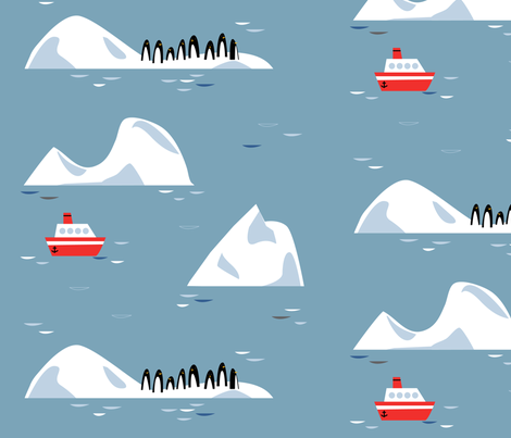 Antarctic Adventure fabric by jenimp on Spoonflower - custom fabric