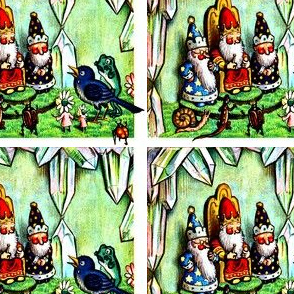 gnomes elf crystals thrones palace kings wizards snails lizards beetles flowers birds fairy toads frogs ladybirds fantasy tales animals insects
