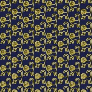 Spiral Lions Gold Navy 1