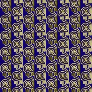 Spiral Lions Gold Navy 2