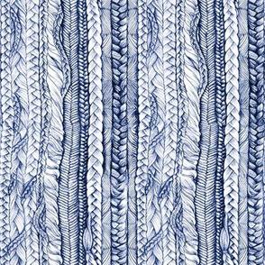 Braided Denim Blue