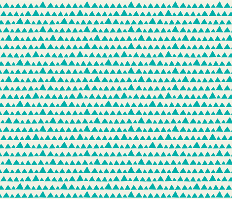 Llama triangles turquoise fabric by heleen_vd_thillart on Spoonflower - custom fabric