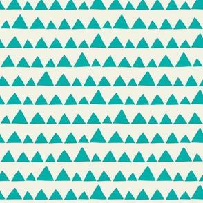 Llama triangles turquoise