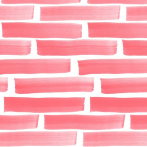 Pink Red Stack Strokes - Large