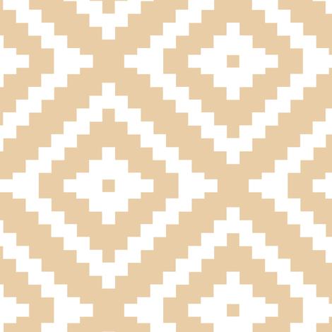 Aztec // honey fabric by littlearrowdesign on Spoonflower - custom fabric