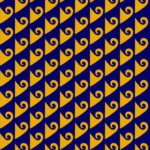 Waves Gold on Navy