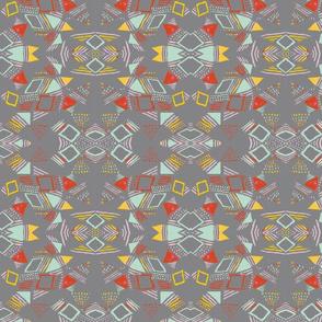 triangular pattern small mirrored